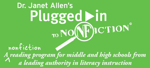 [ image - Dr. Janet Allen's Plugged-in to Reading ]